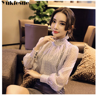2019 summer woman top blusa mujer lace chiffon blouse women shirt long sleeve womens tops and blouses ladies plus size 3