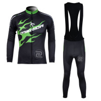 2018 Pro Team Merida Breathable Quick Dry Cycling Long Sleeve Jersey Bike Clothing Set Ropa Ciclismo