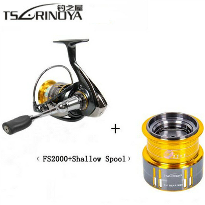TSURINOYA FS2000 Spinning Reel 10BB 5.2:1 Spinning Wheel with Spare Spool Molinete Para Pesca Fishing Reel Carp Fishing Tackle tsurinoya jaguar spinning fishing reel 1000 2000 3000 double metal spool carp wheel fishing tackle equipment 10bb 5 2 1