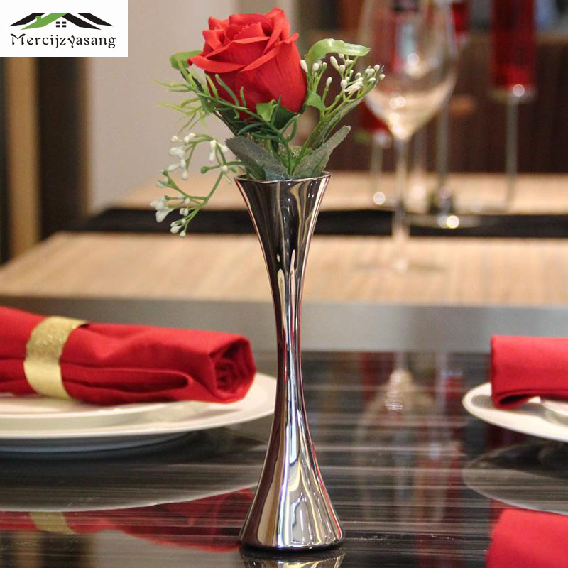 Types Of Flower Arrangement Shapes: 2Pcs/Lot Flowers Vases Table Centerpiece Vase Wrought Iron