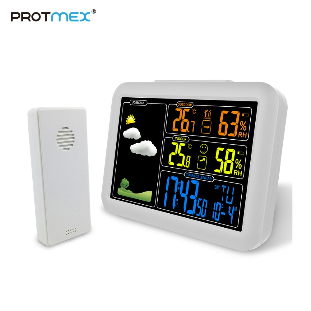 Protmex PT7002W Weather Station, Wireless Weather Station With Alarm Clock, Snooze, Indoor/Outdoor Temp/HumidityProtmex PT7002W Weather Station, Wireless Weather Station With Alarm Clock, Snooze, Indoor/Outdoor Temp/Humidity