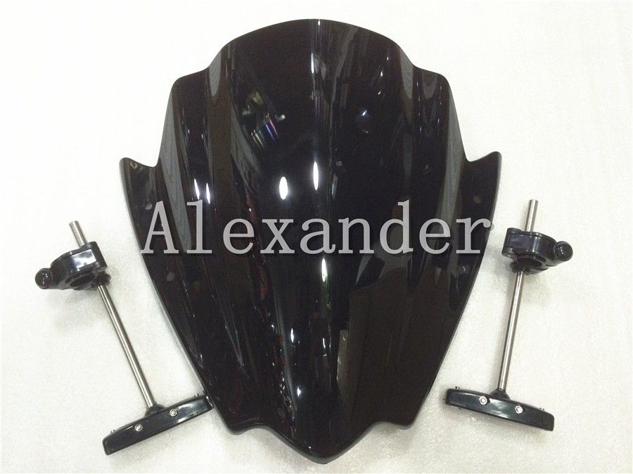 New For Yamaha FZ1 FZ1N FZ6 S2 FZ8 2006-2014 Motorcycle motorbike Street Bikes Handlebars Windshield WindScreenNew For Yamaha FZ1 FZ1N FZ6 S2 FZ8 2006-2014 Motorcycle motorbike Street Bikes Handlebars Windshield WindScreen