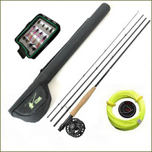 Maxway Fly Fishing rod set 2.1M fly fishing combo 3/4# with flies baits
