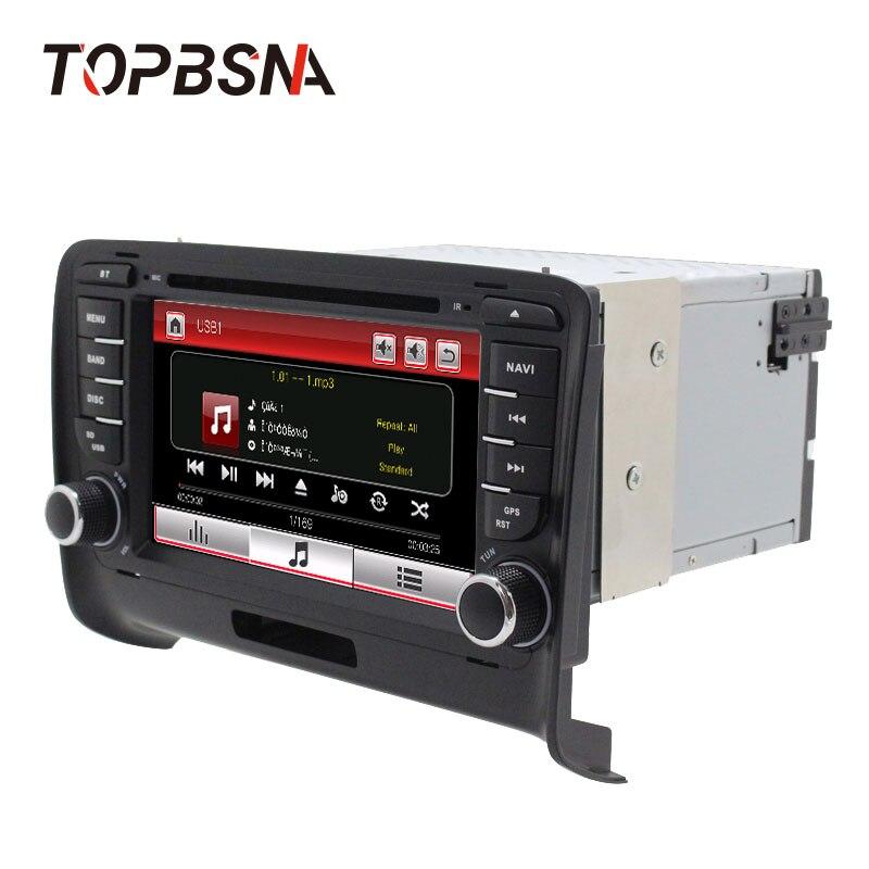 Excellent TOPBSNA 2 Din Car DVD Player For AUDI TT/TTS MK2 8J 2006-2012 GPS Navigaiton multimedia automotive dvd Auto Stereo Headunit USB 1