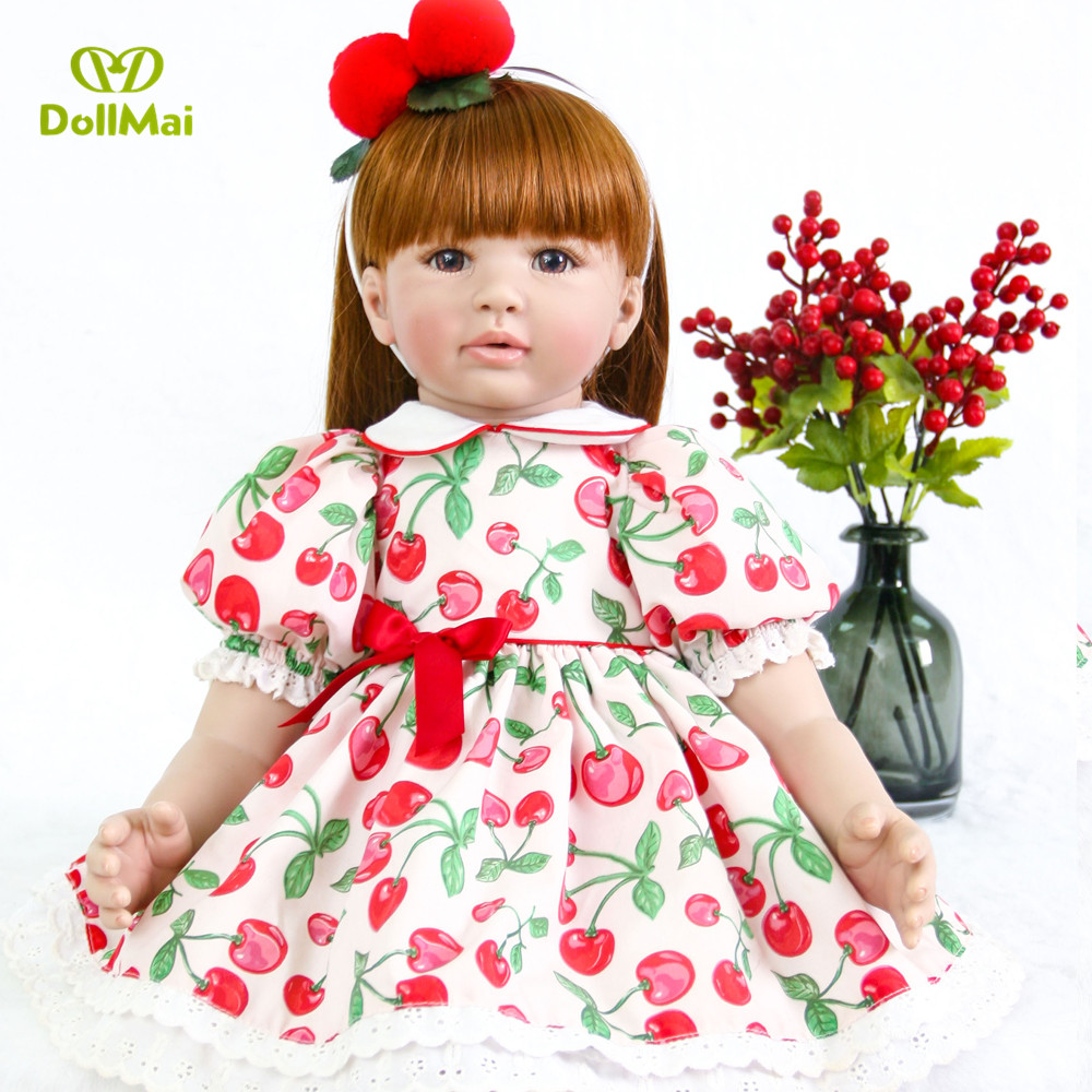 DollMai brown eyes princess doll 61cm bebe reborn silicone dolls reborn baby alive children gift toy dolls Model DIY collectionDollMai brown eyes princess doll 61cm bebe reborn silicone dolls reborn baby alive children gift toy dolls Model DIY collection