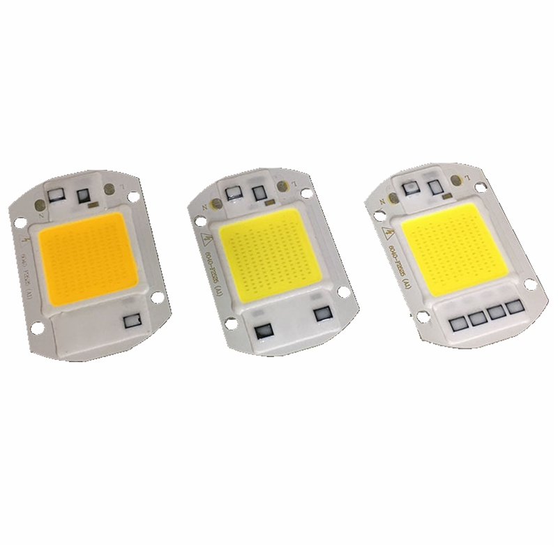 10 PCS LED COB Chip 50W 40W 30W 20W 10W AC 220V 110V No need driver Smart IC bulb lamp F ...