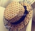 Женская мода Широкий Большой Брим Floppy чехии Японии сексуальные кружева лук Вс Соломенная Шляпка Cap для взрослых 57 см