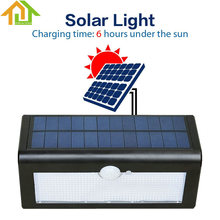 Waterproof 38LED Solar Light Outdoor Garden Solar Lamp Lighting Street Light Wall Sconce