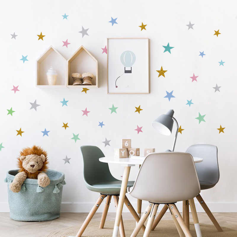 Baby Nursery Bedroom Stars Wall Sticker For Kids Room Home  Decor Little Stars Wall Decals Baby Nursery DIY Vinyl Art Mural