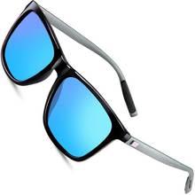 Sunglasses Polarized HD Mirror Lens UV400 Square Aluminium Magnesium Frame Vintage Sun Glasses For Men Women High Quality
