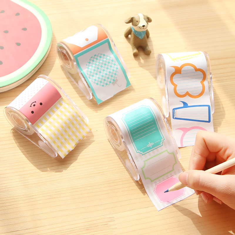 Cute Kawaii Multicolor Tape Seat Box Sticky N Times Stickers Notes Paper Notes Message Posts Free Shipping