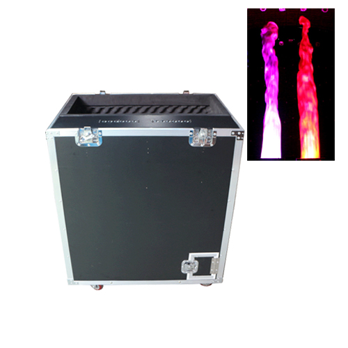 Gigertop New Road Case Led Flame Machine 6 Meter High Silk Electrical Power Control Silk Movement Up and Down Super Flame