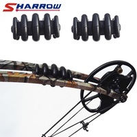 Sharrow 2 pces arco composto estabilizador preto membro úmido de borracha arco estabilizador em tiro