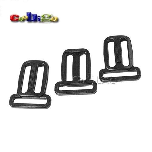 "10 Pcs 1 ""x 1"" Plastic Multifunctionele Slider Tri-glide Pas Gespen Voor Halsband Harnas Rugzak Bandjes # Flc125-25b"