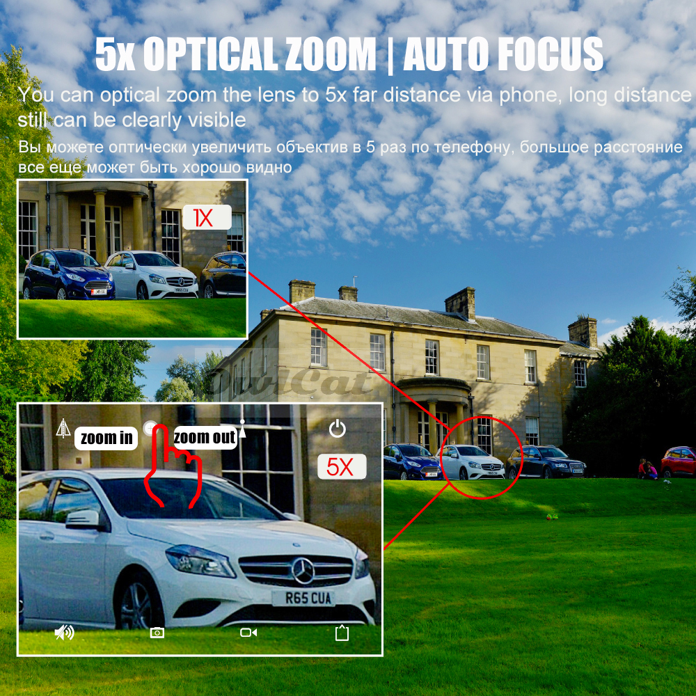 OwlCat im Freien / wasserdichte Haube PTZ IP-Kamera Wifi HD 2MP 5MP - Schutz und Sicherheit - Foto 3