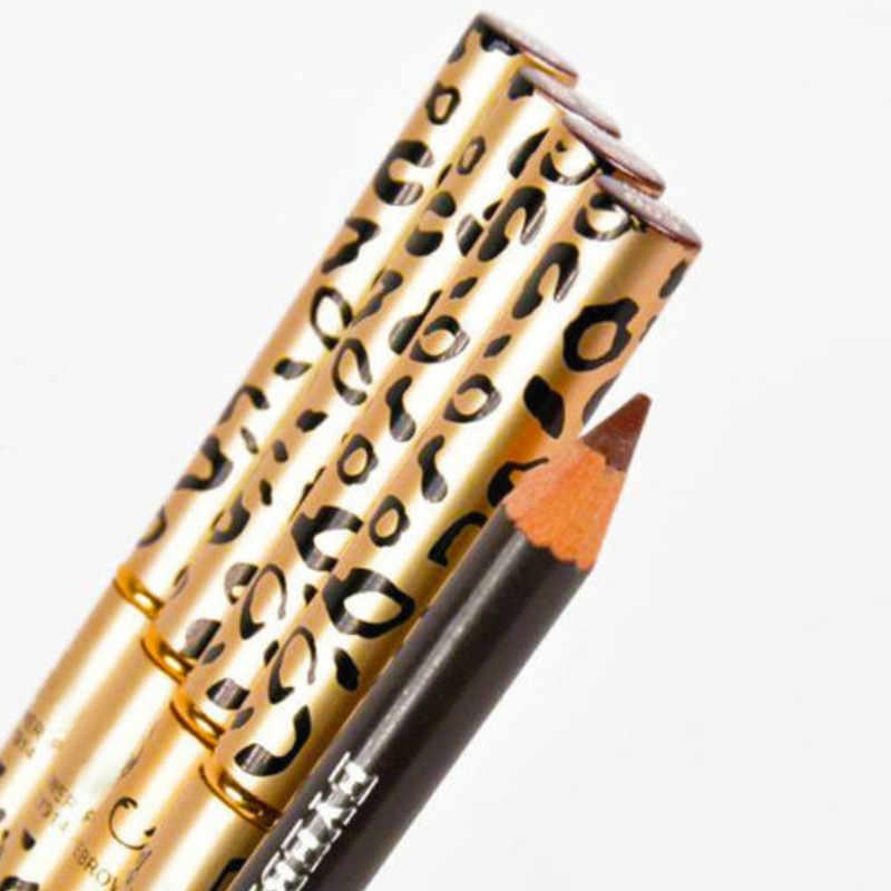 2018 yeni leopar baskı çift başlı kaş kalemi su geçirmez ve dayanıklı değil kaldırmak için mükemmel kaş kalemi.