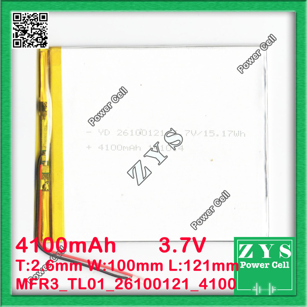 <font><b>3.7V</b></font> <font><b>4100mAh</b></font> <font><b>battery</b></font> 26100121 4100 mah Lithium Polymer <font><b>Battery</b></font> Li Po li ion For Mp3 DVD Camera GPS PSP bluetooth electronics image