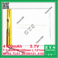 3.7V 4100mAh battery 26100121 4100 mah Lithium Polymer Battery Li Po li ion For Mp3 DVD Camera GPS PSP bluetooth electronics