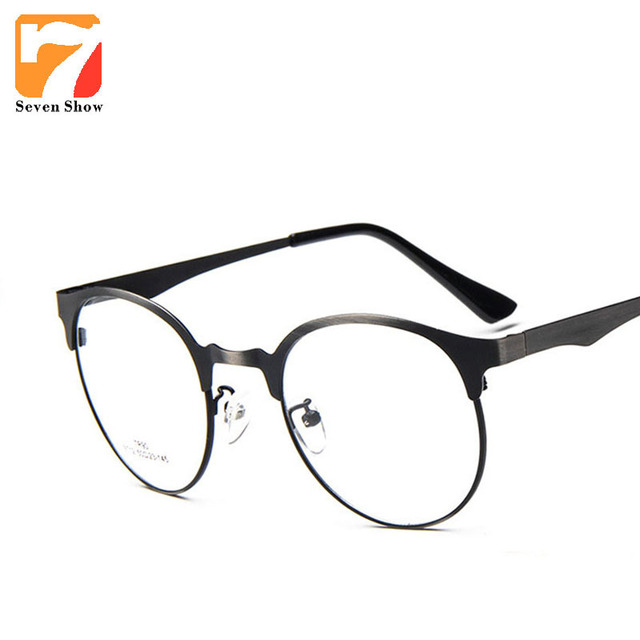 e5cd32e014 Matel Frame Cat Eye Reading Glasses Frames Men Optical Myopia Clear Lens  Prescription Vintage Glasses Female Brand Eyeglasses