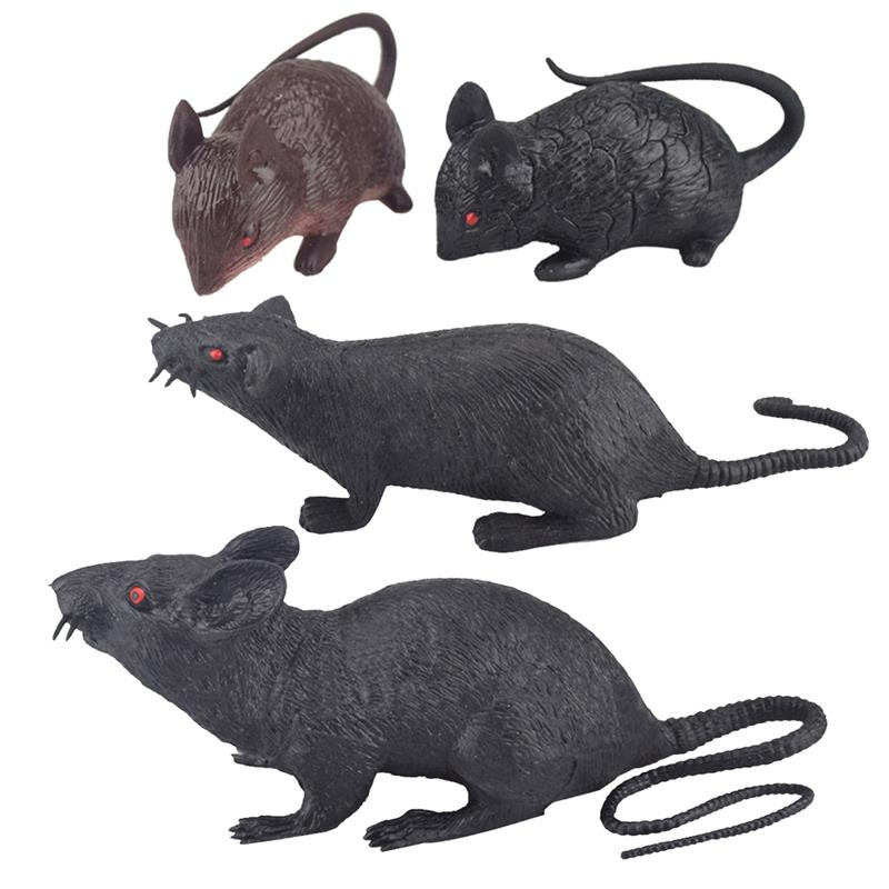 Joke Toy Simulated Rubber Mouse Squeeze Sound Toy Tricky Toy for Halloween April Fools Day