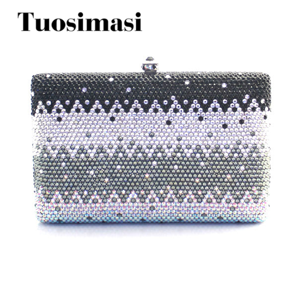 Фотография Ladies Handmade Rhinestone Clutches and Purses flat shap evening party women bags
