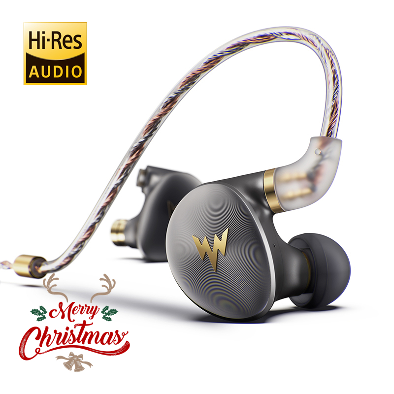Whizzer A HE03 Juicy Bass Earphones HiFi Hi Res Headsets Hybrid 2 Knowles Armature Clear Warm Sound Metal In Ear Earphones