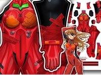 3D Print Movie Neon Genesis Evangelion Asuka Langley Soryu Cosplay Costumes EVA Asuka 3.0 Zentai Lycra Bodysuit Custom Plug Suit