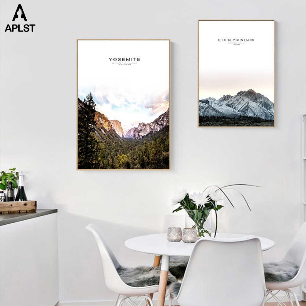 Sierra montanha quadros de lona napa valley parede poster yosemite parque nacional califórnia impressão em tela arte decoração da sua casa