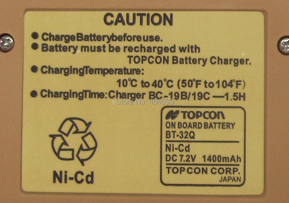 ÚJ BT-32Q akkumulátor a Topcon GTS-220/210/200 / GPT-1003 - Mérőműszerek - Fénykép 2