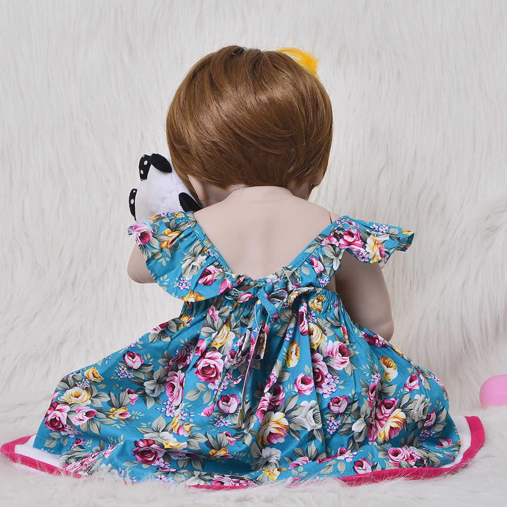 KEIUMI, новинка, 23 дюйма, Реалистичная кукла реборн для малышей, Menina, полностью силиконовый винил, реалистичные детские игрушки с париком, волосы для детей, рождественский подарок