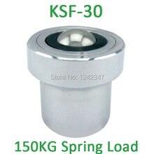 KSF-30 30 мм Монтажная база углеродистой стали 100/150kgs шарикоподшипник с 120kgf Весна загрузки Ёмкость KSF30 единиц мяч передачи
