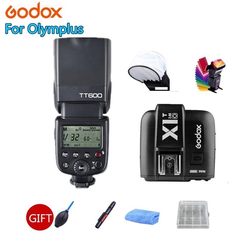 Godox Camera Flash Speedlite TT600s HSS GN60 2.4G Wireless + X1T-O Transmitter for Pentax Olympus DSLR + GIFT KIT in stock godox tt685o x1t o transmitter 2 4g hss 1 8000s ttl ii gn60 camera flash speedlite for panasonic olympus gift kit