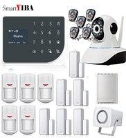 SmartYIBA приложение Управление IP Security Камера Беспроводной релейный выход бытовой техники Управление WI FI GSM GPRS сигнализации двери Сенсор пир си