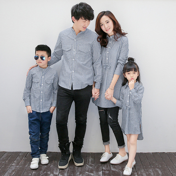 2017 Kids Clothes Girls Coat Matching Mother Daughter Clothes Wedding Party Family Matching Clothes Kids Clothes Dad Boys Shirt