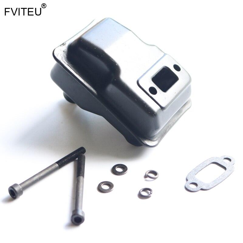 Металлический глушитель FVITEU для двигателя 23cc 26cc 29cc 30,5 cc, для 1/5 HPI Baja 5B ss 5t 5sc Rovan King