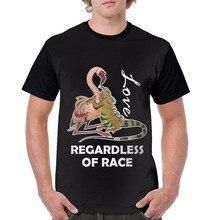 High Quality T Shirt Short Fierce Bearded Dragon Regardless Of Race Crew Neck Summer Tee For Men