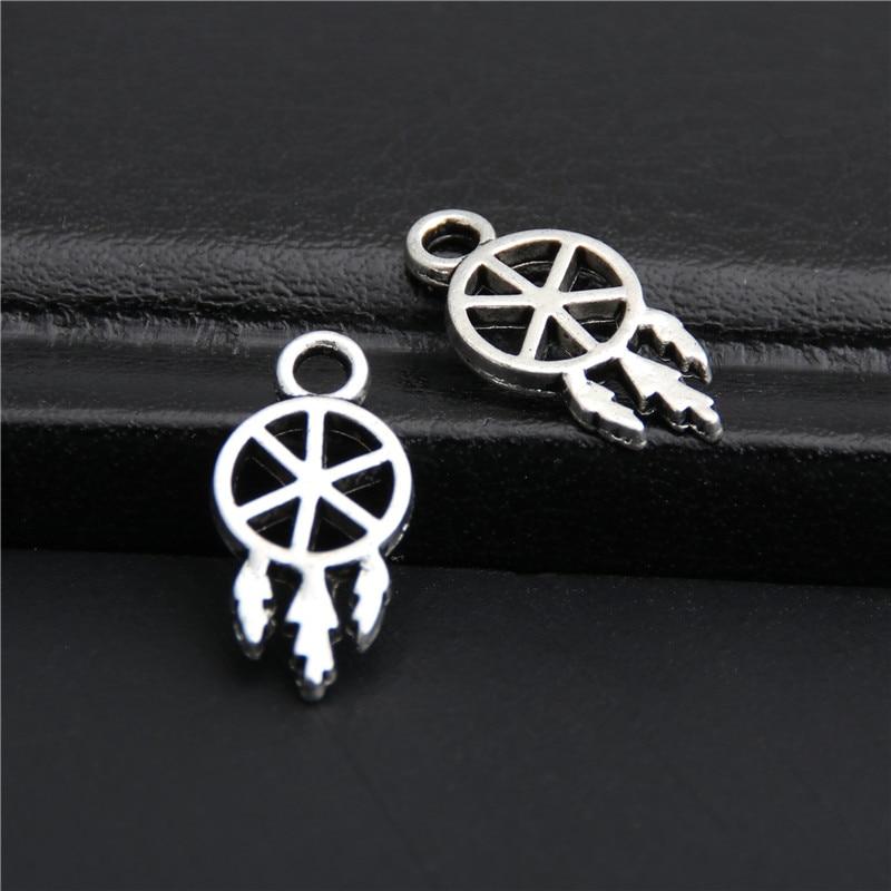 100pcs Tibetan Silver Star Charms Women Jewelry Tiny Pendants Bracelet Making