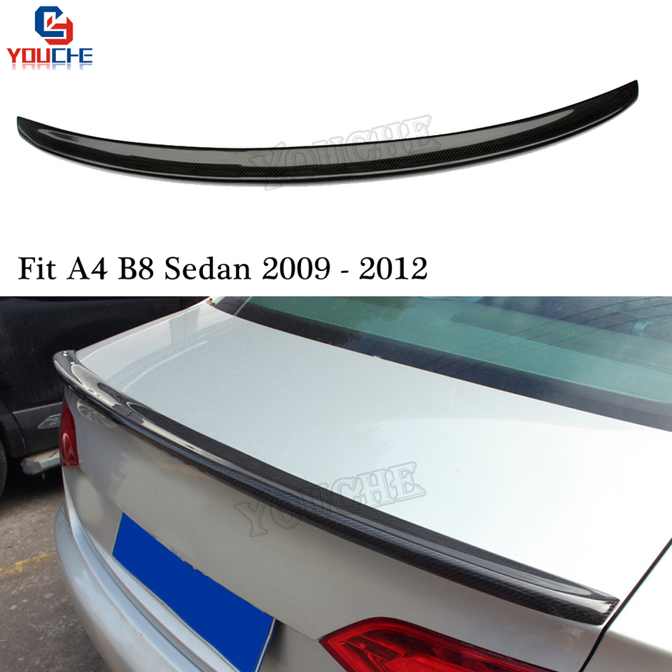 For Audi A4 S4 2009-2012 Carbon Fiber Wing Mirror Covers OEM-fit