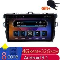 8 Core 4G RAM Android Car DVD for Toyota Corolla 2007 2008 2009 2010 2011 car radio gps headunit tape recorder navigation wifi
