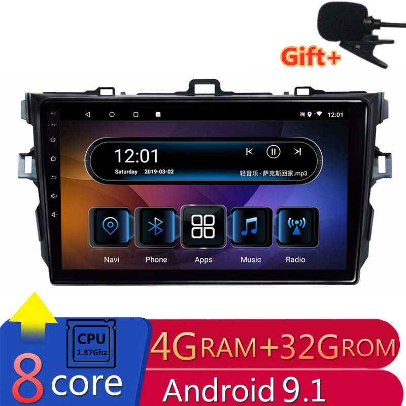 8 Core 4G RAM Android voiture DVD pour Toyota Corolla 2007 2008 2009 2010 2011 autoradio gps headunit magnétophone navigation wifi