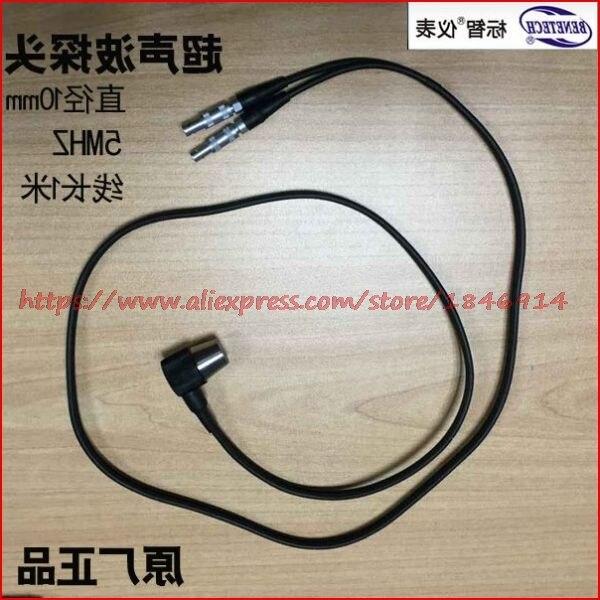 Sonde de mesure d'épaisseur à ultrasons 5 MHz sonde de capteur à ultrasons sonde de mesure d'épaisseur GM100