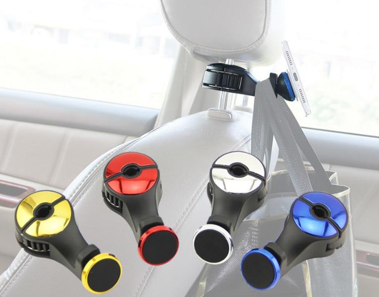 Willensstark Durch Dhl 200 Stücke Magnetische Multifunktions Auto Kopfstütze Hanger Haken & Zurück Sitz Magnetische Telefon Halterung Halter Für Ipad Tablet