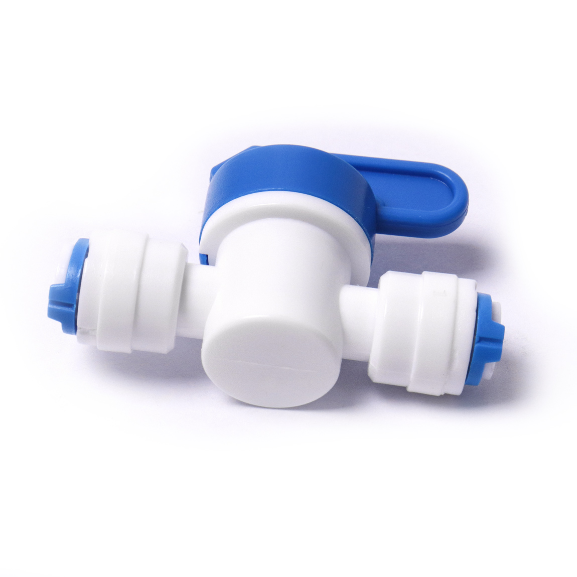 """1/4"""" Ball Valve Inline Tap Quick Connect Push Fit for RO Water Reverse Osmosis"""