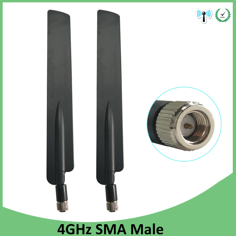 2pcs 3G 4G LTE Antenna SMA Male Connector 10DBI Antenne 698~960MHz /1710~2690MHz For Huawei Wireless Router Modem Repeater