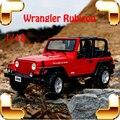 Новый Год Подарок Сплава Jeep Wrangler Rubicon 1/18 Металл Модель Автомобиля Коллекция Классический ВНЕДОРОЖНИК Игрушки Для Друга Моделирование Металлик
