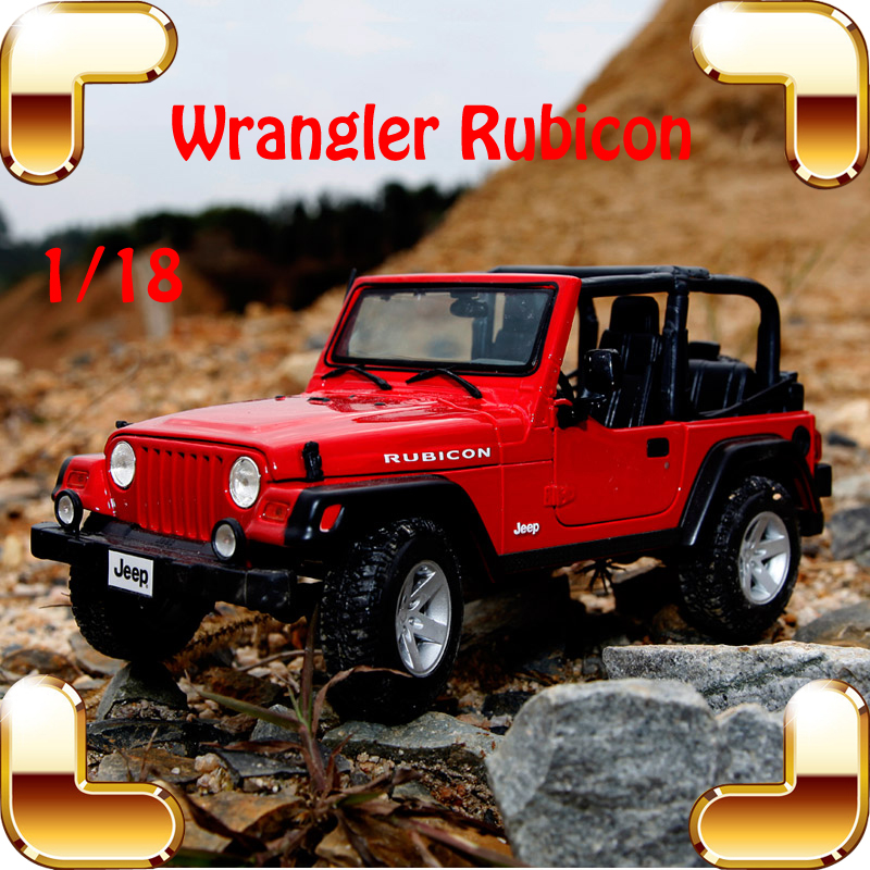 New Year Gift Wrangler Rubicon 1/18 Metal Model Car Collection Alloy Jeep Classic SUV Toys For Friend Simulation Metallic 1 18 all new jeep wrangler willys 2017 cabrio off road vehicle suv alloy toy car