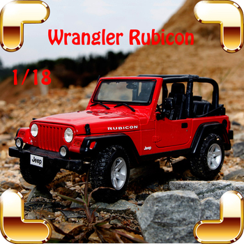 New Year Gift Wrangler Rubicon 1/18 Metal Model Car Collection Alloy Jeep Classic SUV Toys For Friend Simulation Metallic