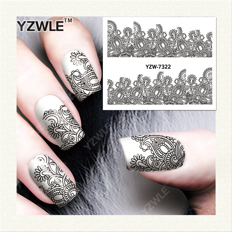 Homemade Nail Art Decals : Yzwle sheet diy nails art decals water transfer printing stickers