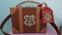 Harri Potter Bag Hogwarts PU School Badge Small suitcase Shoulder bag Handbags Halloween Christmas Package NEW Cosplay Drop Ship