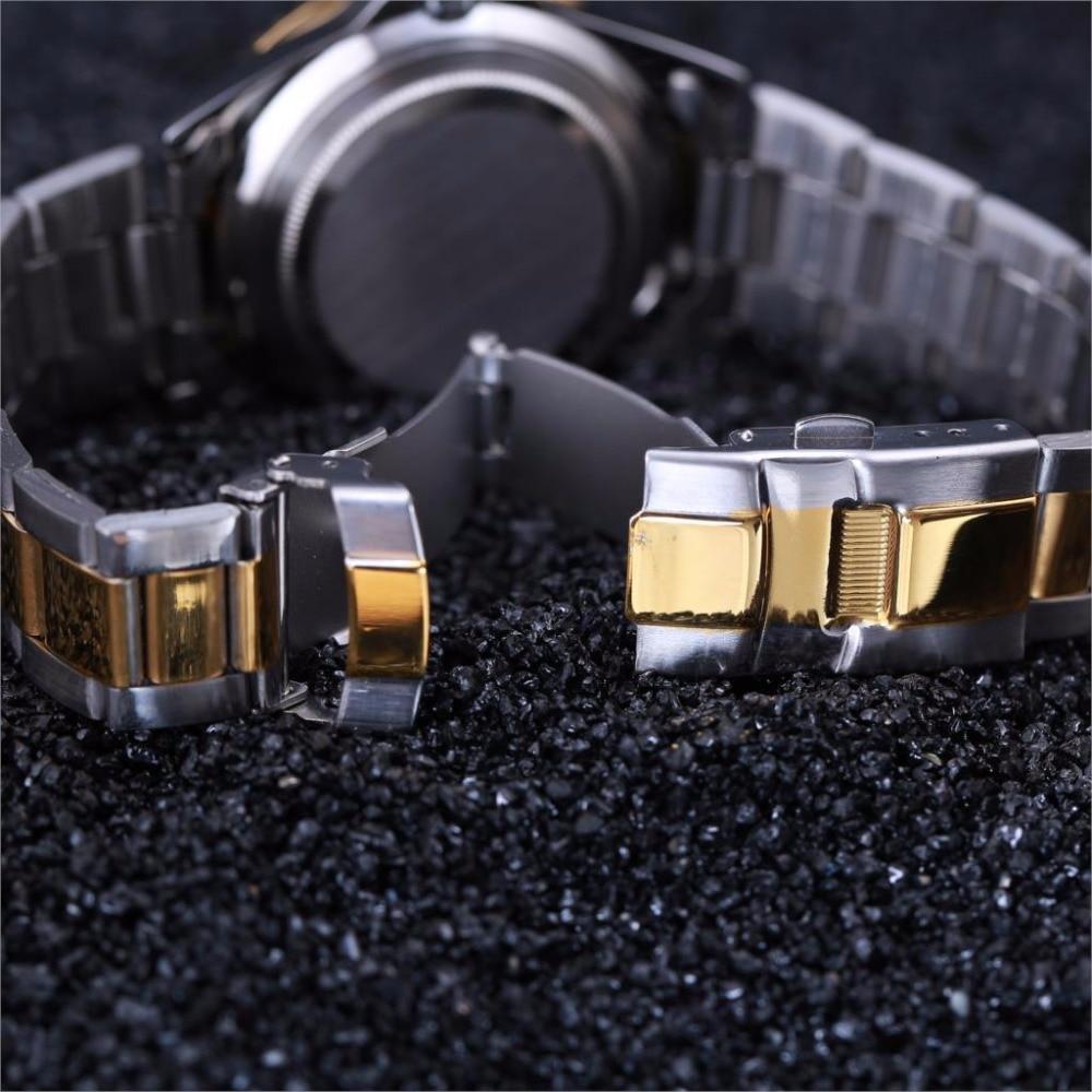 zegarki meskie Zegarek męski DEERFUN marka luksusowa GMT Obrotowa - Męskie zegarki - Zdjęcie 4